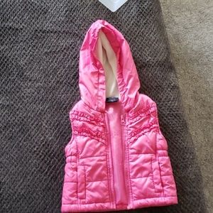 Faded Glory pink hooded vest